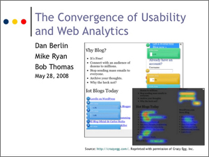 Bob Thomas, Web Analytics, Usability