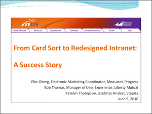 Bob Thomas, Card Sorts, Card Sorting, Intranet, UX, UX Research