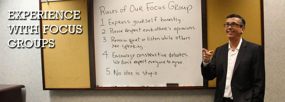 Bob Thomas: experience with UX focus groups.